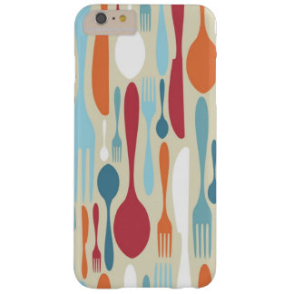 Cutlery Silhouette Icons Pattern Barely There iPhone 6 Plus Case