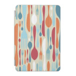 Cutlery Silhouette Icons Pattern iPad Mini Cover