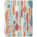 Cutlery Silhouette Icons Pattern iPad Smart Cover