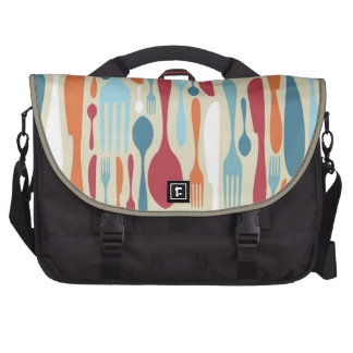 Cutlery Silhouette Icons Pattern Commuter Bags