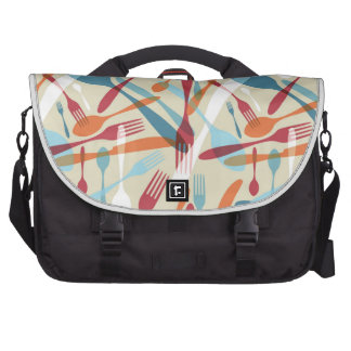 Cutlery Transparent Silhouette Pattern Commuter Bags