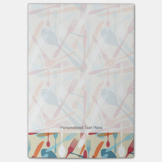 Cutlery Transparent Silhouette Pattern Post-it® Notes
