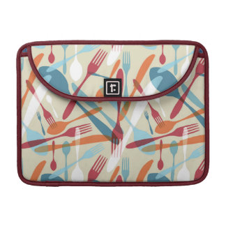 Cutlery Transparent Silhouette Pattern Sleeve For MacBook Pro
