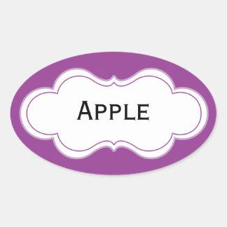 Cutomizable Purple Label Oval Stickers