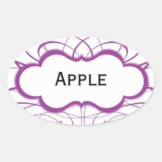 Cutomizable Purple Swirl Label Sticker