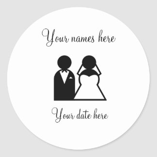 Cutomizable Wedding Guest Gift Round Stickers