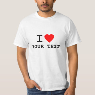 Cutomize Your Own I Heart Tee Shirt