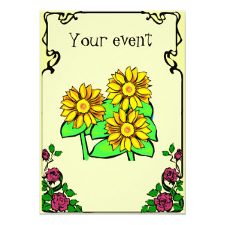 Cutomizeable invitation, floral card