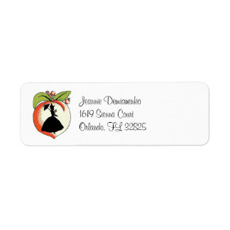 Cutomized Peach Southern Belle Custom Return Address Labels