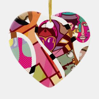 CutOut Abstract Vector art compilation Ceramic Ornament