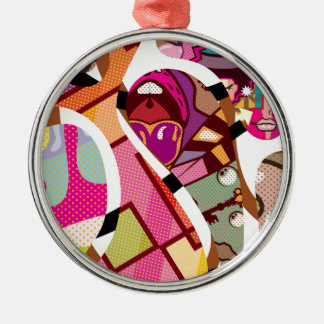 CutOut Abstract Vector art compilation Metal Ornament