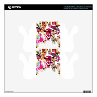 CutOut Abstract Vector art compilation PS3 Controller Decals