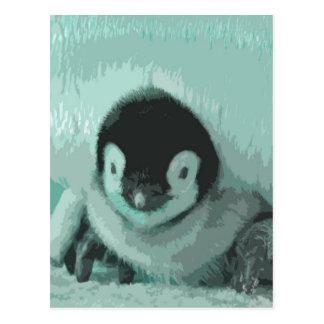 Cutout Baby Vintage Look Penguin Postcard