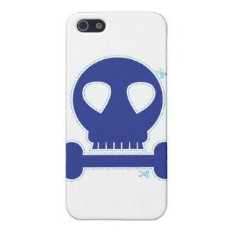 CUTOUT! blue skull boy iPhone SE/5/5s Cover
