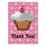 Cutout Cupcake with Pink Cherry on Top Stationery Note Card