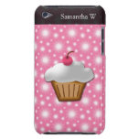 Cutout Cupcake with Pink Cherry on Top Barely There iPod Cases