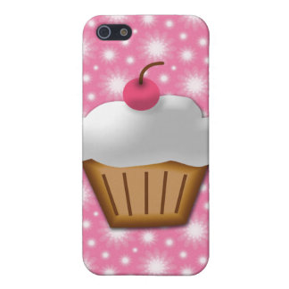 Cutout Cupcake with Pink Cherry on Top Cover For iPhone SE/5/5s