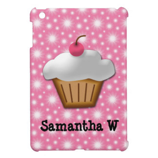 Cutout Cupcake with Pink Cherry on Top Cover For The iPad Mini