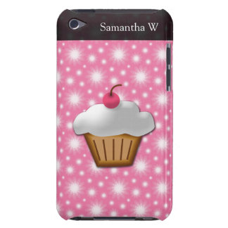 Cutout Cupcake with Pink Cherry on Top iPod Case-Mate Case