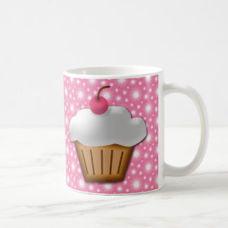 Cutout Cupcake with Pink Cherry on Top Mugs