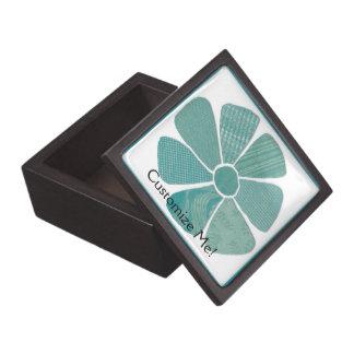 Cutout Fabric Flower Mix and Match Color Premium Trinket Boxes