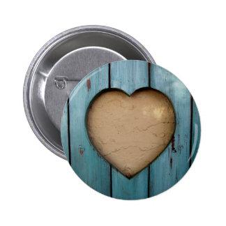 Cutout heart shape artistic pin