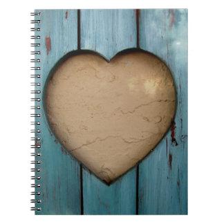 Cutout heart shape artistic note books