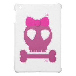 CUTOUT! pink skull girl iPad Mini Covers