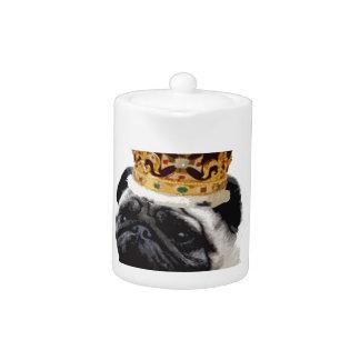 Cutout Pug in a Crown Teapot