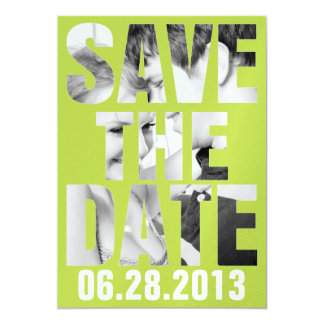 CUTOUT SAVE THE DATE Invitation