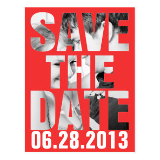 CUTOUT SAVE THE DATE Post Card