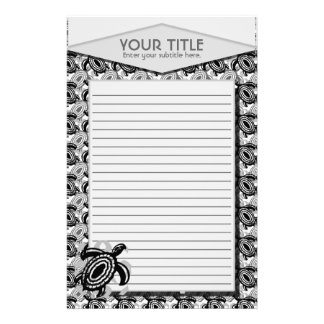 Cutout Turtle Personalized Stationery