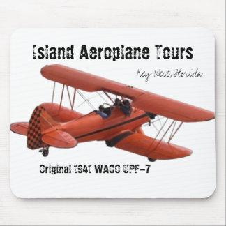 cutoutbiplane, viajes del avión de la isla, Key We Tapetes De Raton