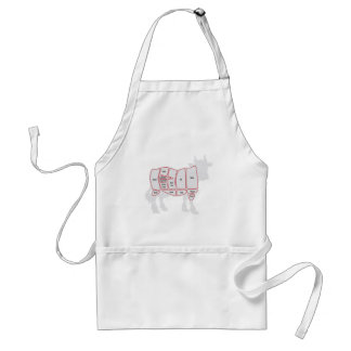 Cuts of Beef Adult Apron