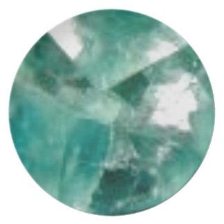 cuts of emerald melamine plate