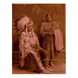 Cuts The Bear's Ears and Wife - Crow Postcard