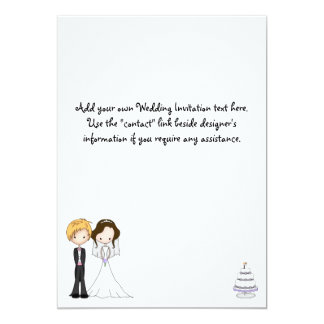 Cutsie Bride & Groom Cartoon Wedding Invitations