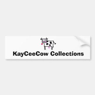Cutsie Square Cow Bumper Sticker