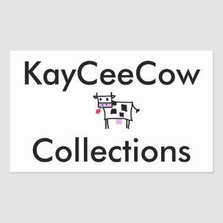 Cutsie Square Cow Rectangular Sticker