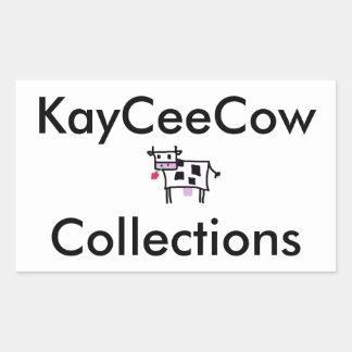 Cutsie Square Cow Rectangular Sticker