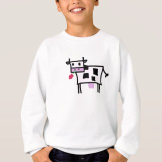 cutsie square cow sweatshirt