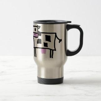 Cutsie Square Cow Travel Mug
