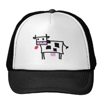 cutsie square cow trucker hat