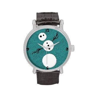 Cutsomizable Whimsical Winter Snowman Time Piece Watch