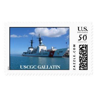 Cutter in GTMO, USCGC GALLATIN Postage