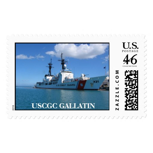 Cutter in GTMO, USCGC GALLATIN Postage Stamp