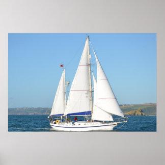 Cutter Ketch Under Full Sail Poster
