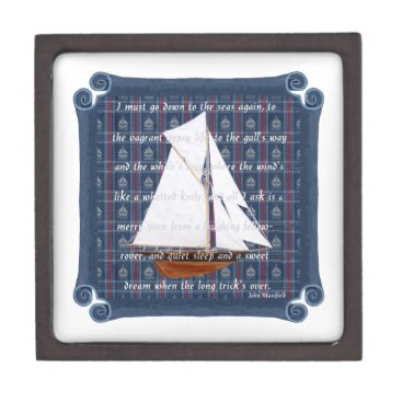 Beach Themed Cutter with Verse - Down to the Seas Gift Box