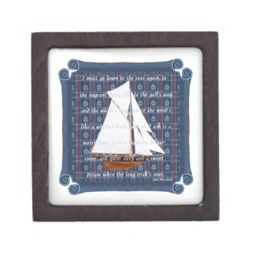 Beach Themed Cutter with Verse - Down to the Seas Keepsake Box