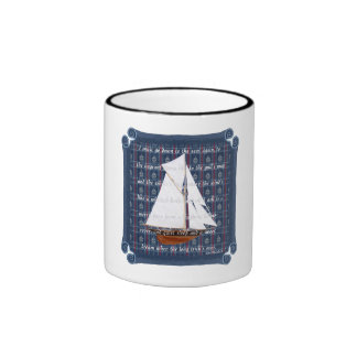 Cutter with Verse - Down to the Seas Coffee Mug
